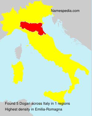 Surname Dogari in Italy