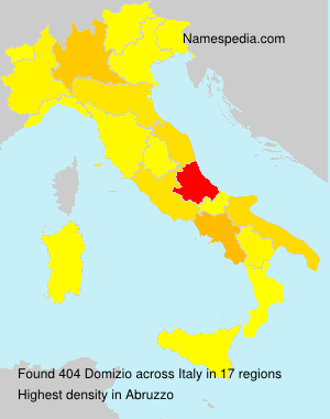 Surname Domizio in Italy