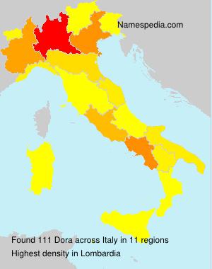 Familiennamen Dora - Italy