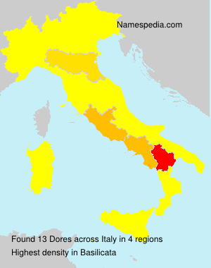 Surname Dores in Italy