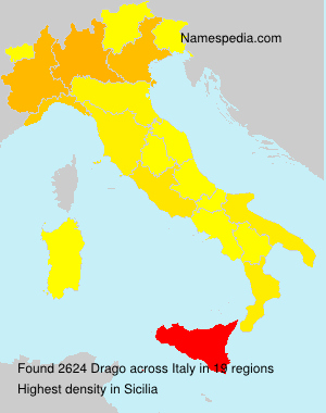 Familiennamen Drago - Italy