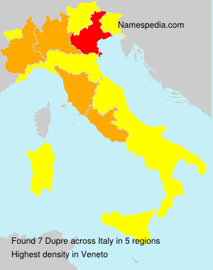Surname Dupre in Italy