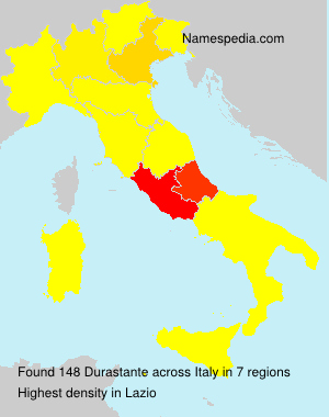 Surname Durastante in Italy