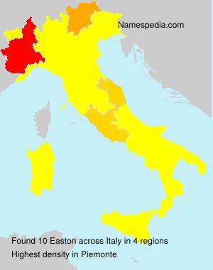 Familiennamen Easton - Italy