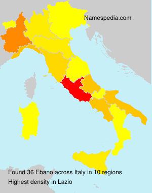 Surname Ebano in Italy