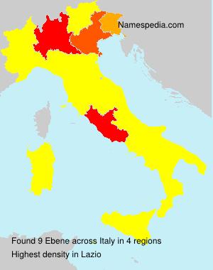 Familiennamen Ebene - Italy
