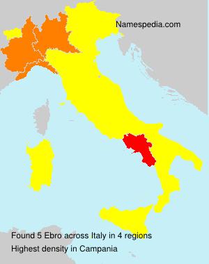 Surname Ebro in Italy