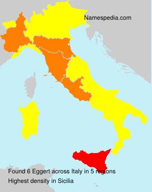 Familiennamen Eggert - Italy