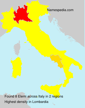 Surname Elemi in Italy