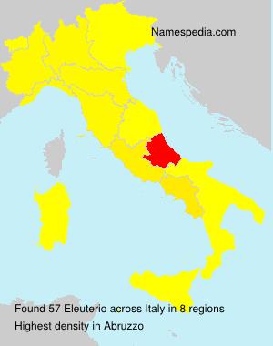 Familiennamen Eleuterio - Italy
