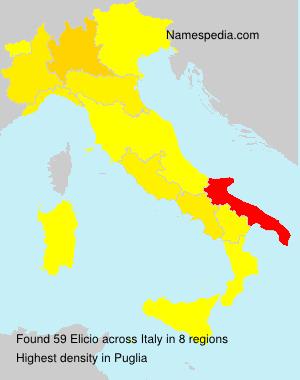 Surname Elicio in Italy