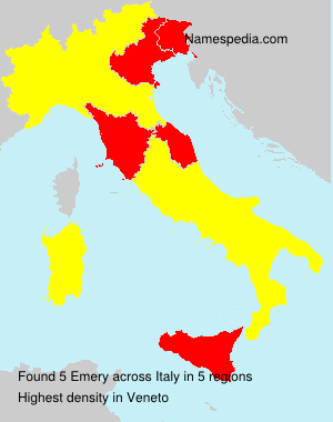 Familiennamen Emery - Italy