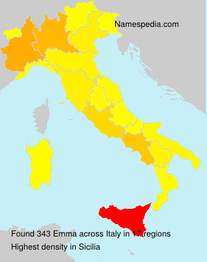Surname Emma in Italy