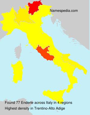 Surname Enderle in Italy