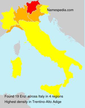 Familiennamen Enzi - Italy