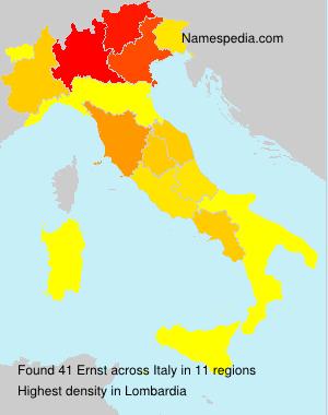 Familiennamen Ernst - Italy