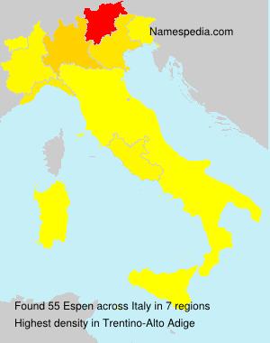 Surname Espen in Italy