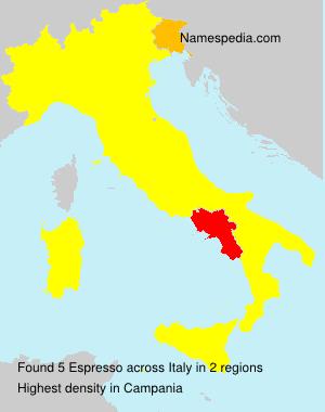 Surname Espresso in Italy