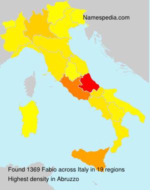 Surname Fabio in Italy