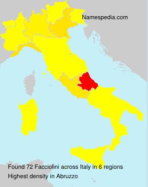 Surname Facciolini in Italy