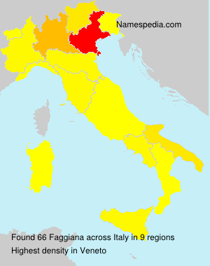 Surname Faggiana in Italy