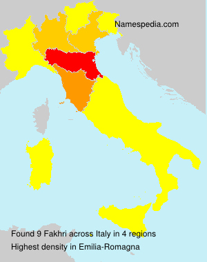 Familiennamen Fakhri - Italy