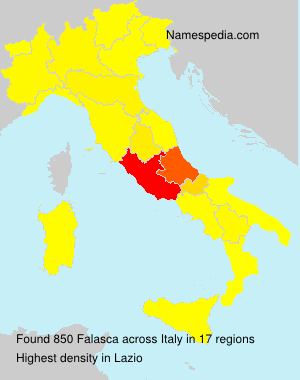 Surname Falasca in Italy