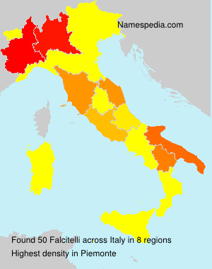 Surname Falcitelli in Italy