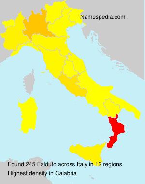 Surname Falduto in Italy