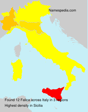 Surname Falica in Italy