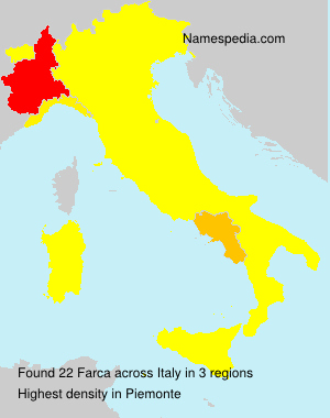Surname Farca in Italy