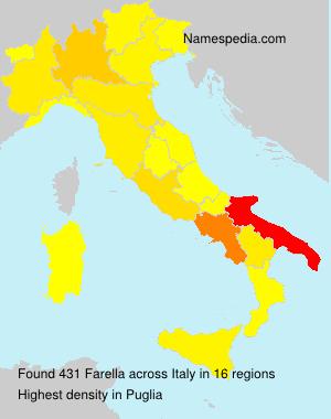 Surname Farella in Italy