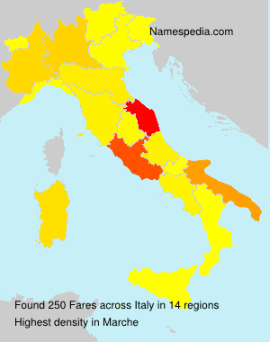 Surname Fares in Italy
