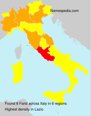 Surname Farid in Italy