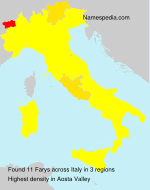 Surname Farys in Italy