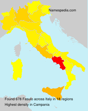 Surname Fasulo in Italy