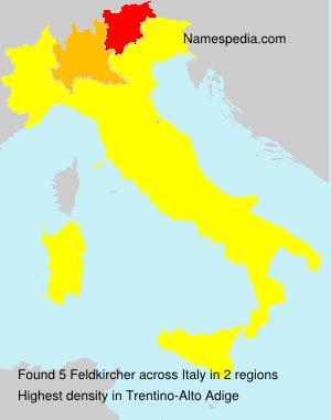 Surname Feldkircher in Italy