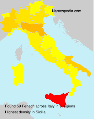 Surname Fenech in Italy