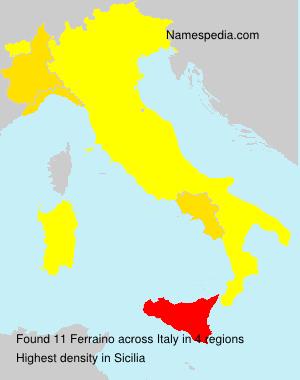 Familiennamen Ferraino - Italy