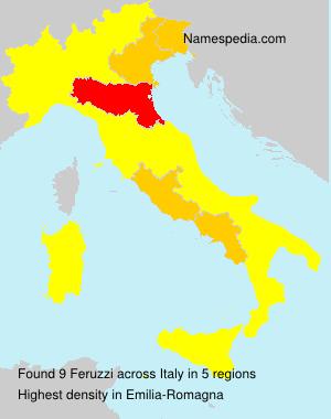 Surname Feruzzi in Italy