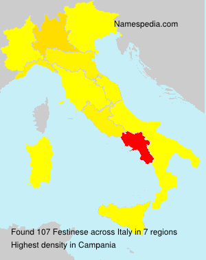 Surname Festinese in Italy