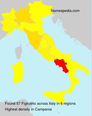 Surname Figliolino in Italy