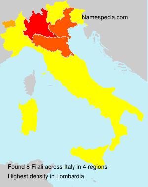 Surname Filali in Italy