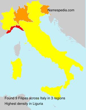 Surname Filipas in Italy