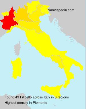 Familiennamen Filipello - Italy