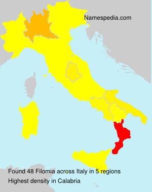 Surname Filomia in Italy