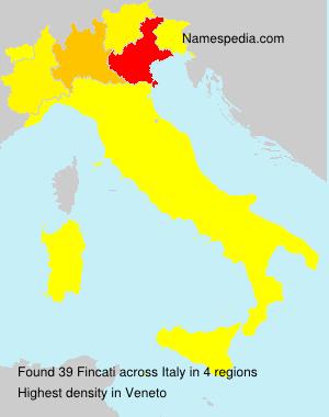 Surname Fincati in Italy