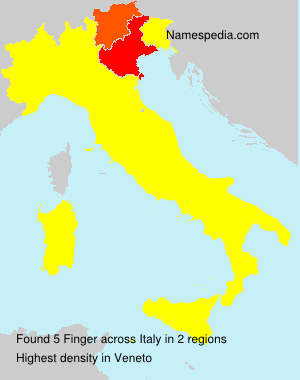 Surname Finger in Italy