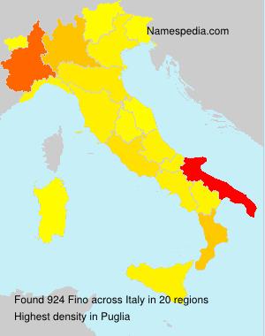 Surname Fino in Italy