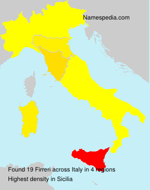 Surname Firreri in Italy